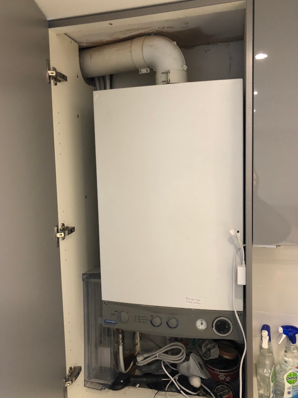 old boiler installation